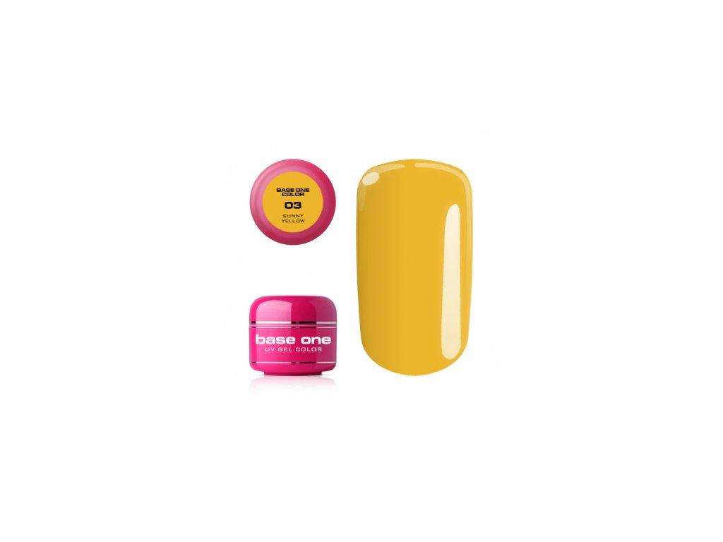Silcare farebný uv gél 5ml - noname sunny yellow 3