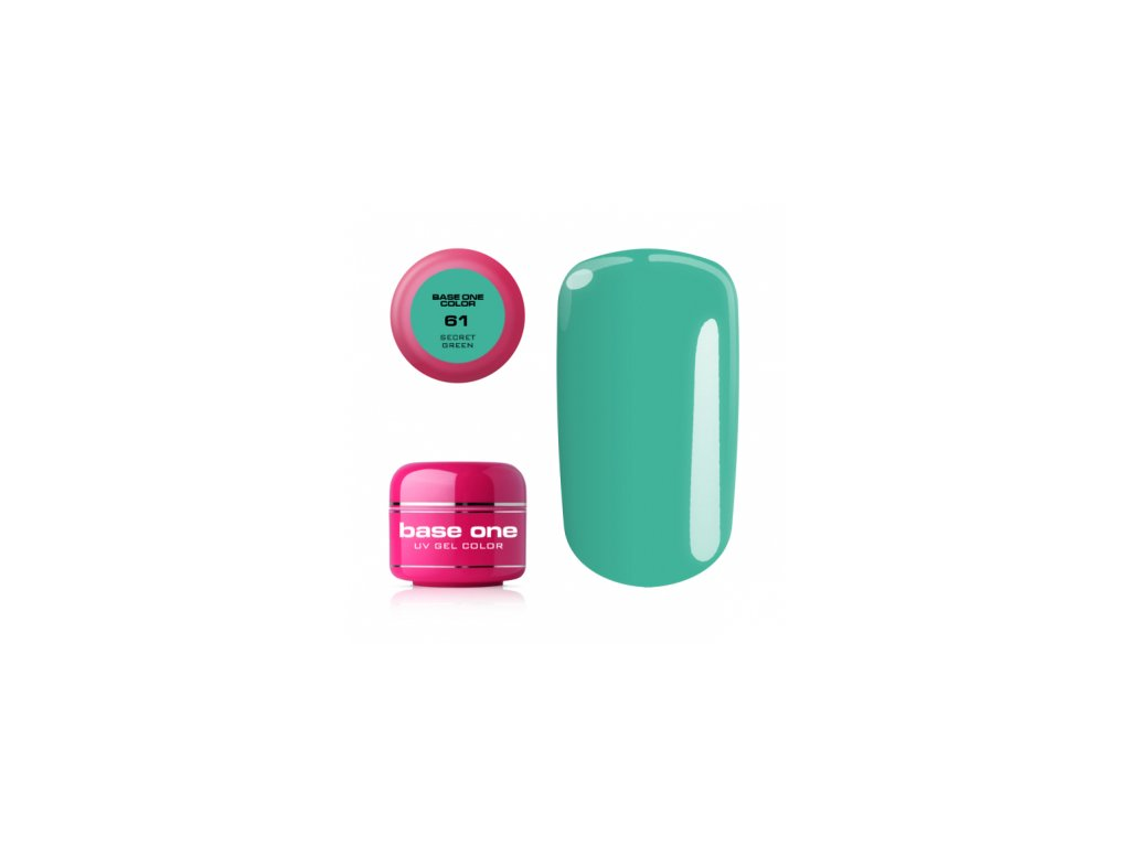 Silcare farebný uv gél 5ml - base one secret green 61