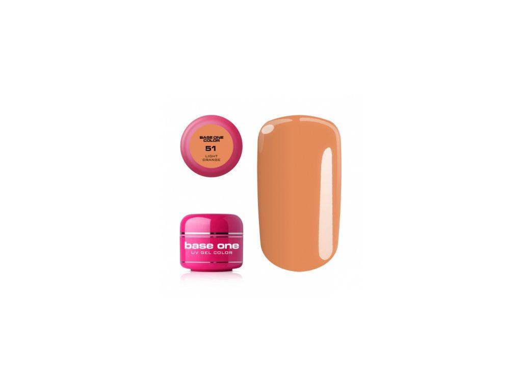 Silcare farebný uv gél 5ml - base one light orange 51