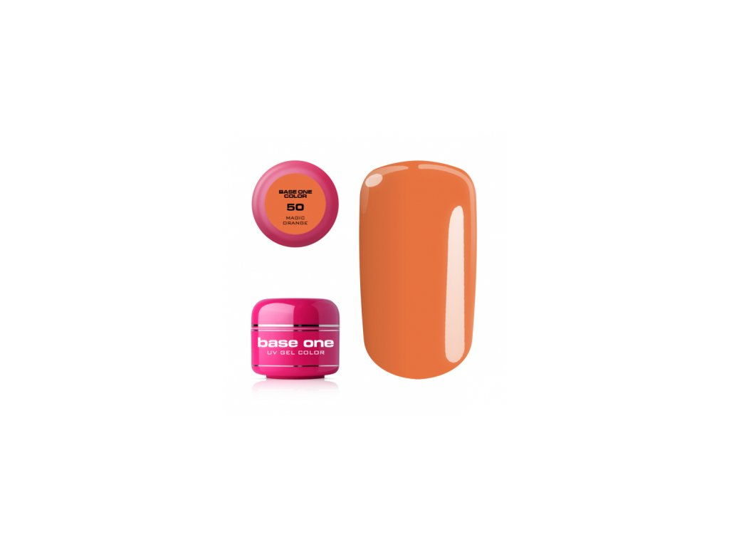 Silcare farebný uv gél 5ml - base one magic orange 50