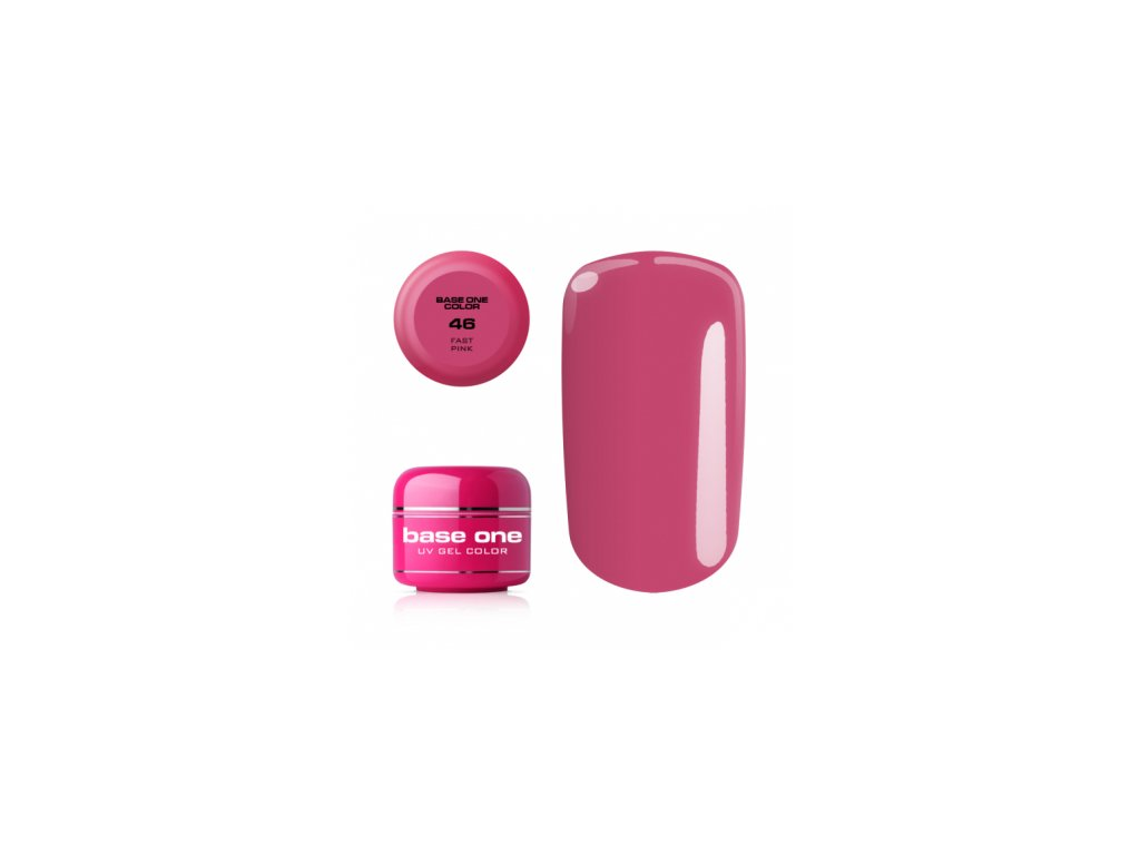 Silcare farebný uv gél 5ml - base one fast pink 46