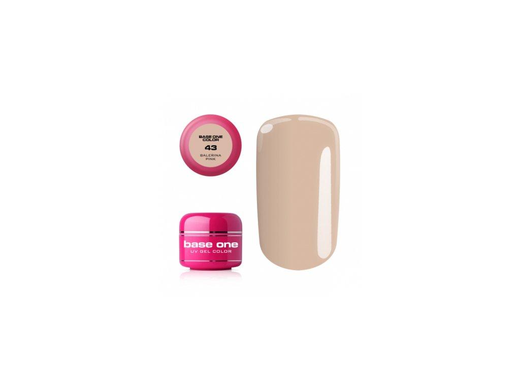 Silcare farebný uv gél 5ml - base one balerina pink 43