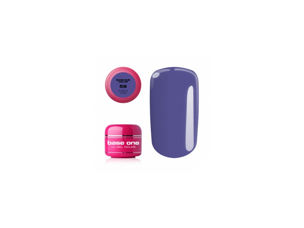Silcare farebný uv gél 5ml - base one purple love 58