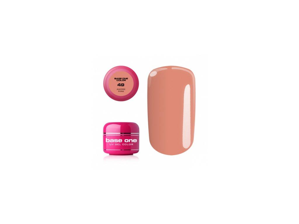 Silcare farebný uv gél 5ml - base one amore pink 49