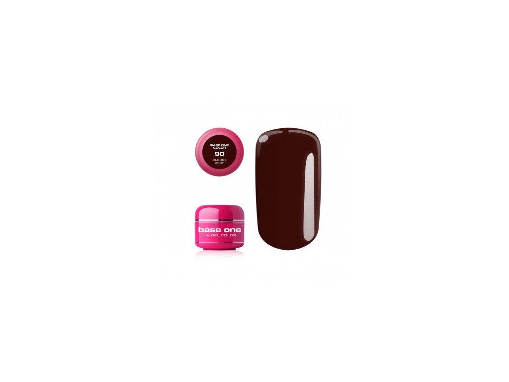 Silcare farebný uv gél 5ml - base one bloody drop 90