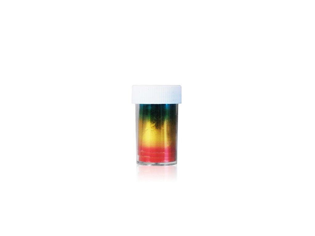 Nail art fólia 2m v nádobke farebná