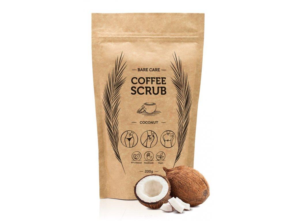 KOKOS - Kávový peeling s vôňou kokosu BARECARE 200g