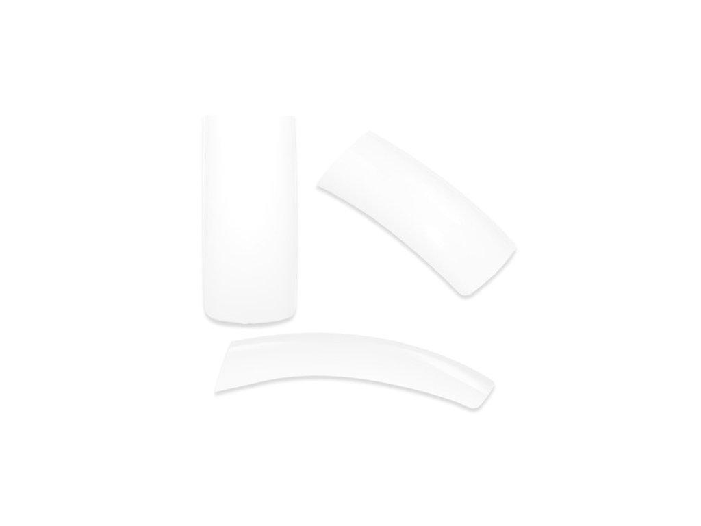 Tipy s krátkou nalepovacou plochou biele 100ks