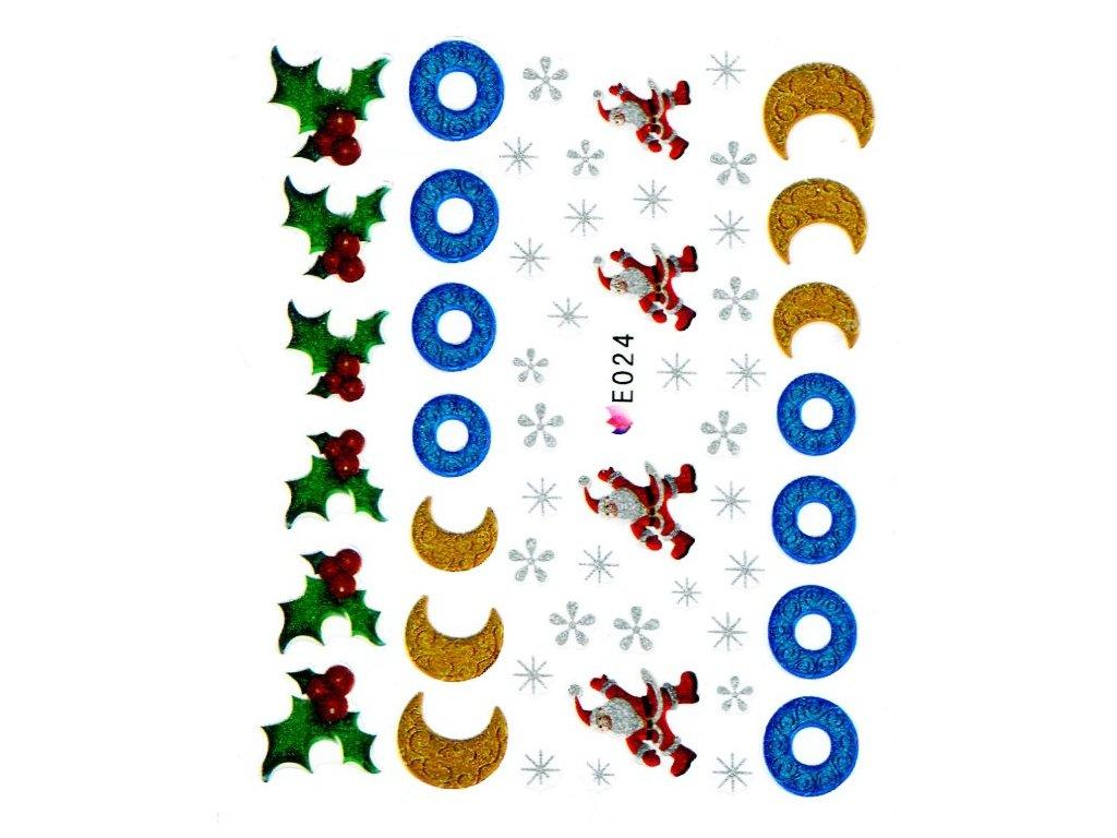 Nálepky vianočná ozdoby