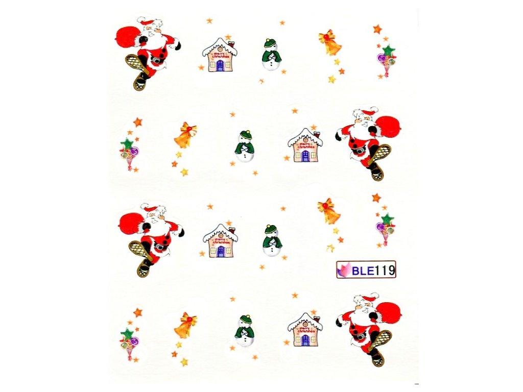 Nálepky vianočný domček