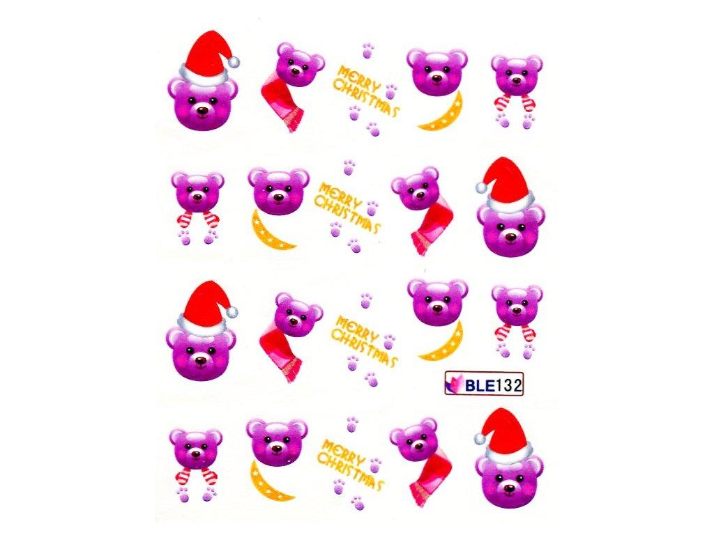 Nálepky vianočný maco