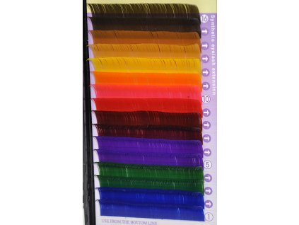 Farebné mihalnice typ C 0,20 x 12 mm - Mink Lashes