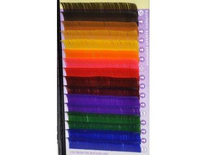 Farebné mihalnice typ C 0,20 x 14 mm - Mink Lashes
