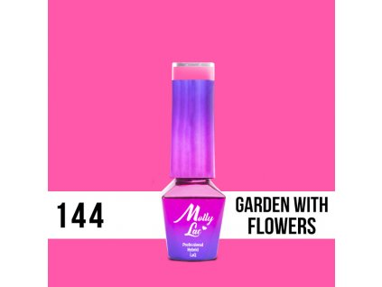 GEL LAK Molly Lac Flamingo Garden with Flowers 5ml Nr 144