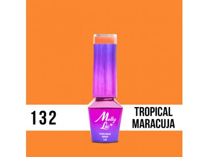 GEL LAK Molly Lac Bubble Tea Tropical Maracuja 5ml Nr 132