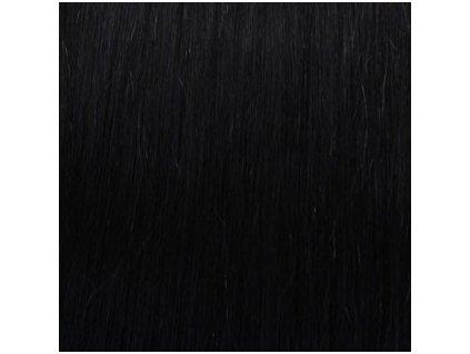 Exkluzívne clip in vlasy - odtieň 1 dlhé 60cm váha vlasov 120g