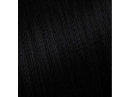 Ruské vlasy - ČIERNA PRÍRODNÁ -  80-85cm 10g