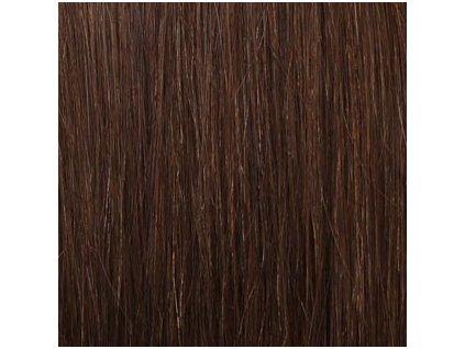 REMY vlasy keratín #6  hnedá