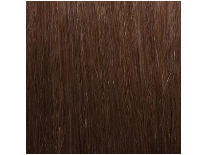 Micro loop remy vlasy 60cm farba 8 orieškovo hnedá
