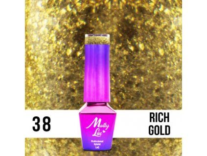 GEL LAK Molly Lac QUEENS OF LIFE RICH GOLD 5ml Nr 38