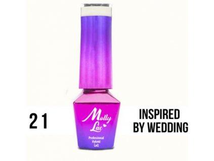 GEL LAK Molly Lac WEDDING YES, I DO INSPIRED BY WEDDING 5ml Nr 21