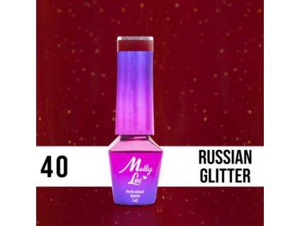 GEL LAK Molly Lac ELITE WOMEN RUSSIAN GLITTER 5ml Nr 40