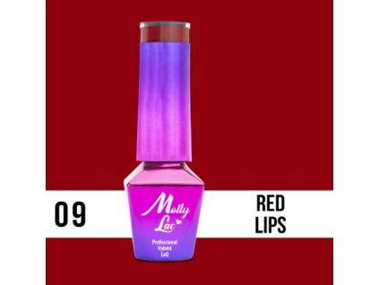 GEL LAK Molly Lac Glamour Women Red Lips 5ml Nr 9