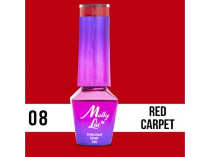 GEL LAK Molly Lac Glamour Women Red Carpet 5ml Nr 8