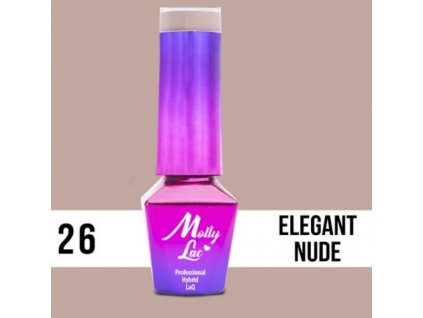 GEL LAK Molly Lac WEDDING YES, I DO ELEGANT NUDE 5ml Nr 26