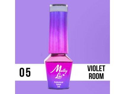 GEL LAK Molly Lac Glamour Women Violet Room 5ml Nr 5