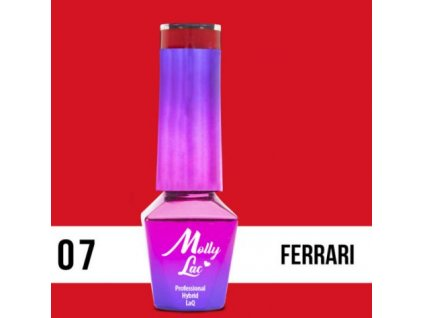 GEL LAK Molly Lac Glamour Women Ferrari 5ml Nr 7