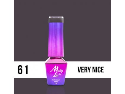 GEL LAK Molly Lac DELICATE WOMAN VERY NICE 5ml Nr 61
