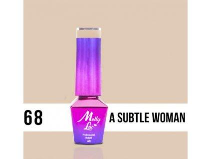 GEL LAK Molly Lac DELICATE WOMAN A SUBTLE WOMAN 5ml Nr 68