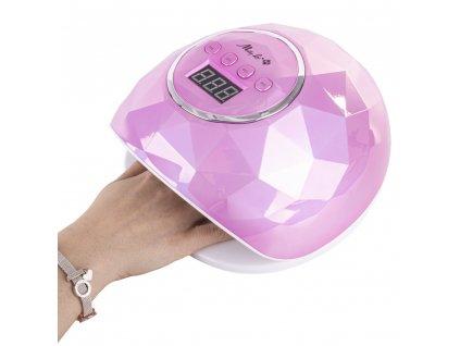 lampa allle diament f5 uv led 72w rozowa 24 diody