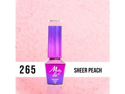 GEL LAK MollyLac Pupils Sheer Peach 5ml Nr 265