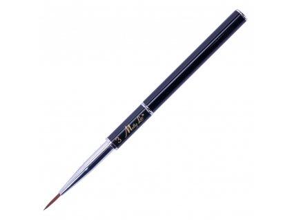 pedzel pedzelek do zdobien czarny mollylac nail art brush 10 mm nr 3