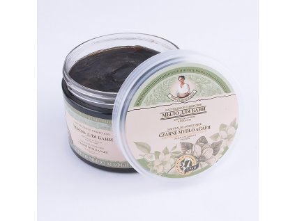 mydlo do ciala i wlosow naturalne czarne bania agafii 500ml