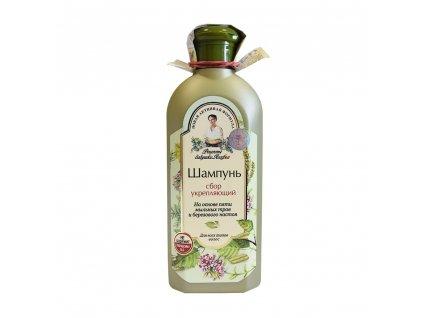 szampon do wlosow wzmacniajacy na bazie 5 ziol do kazdego rodzaju wlosow bania agafii 350ml