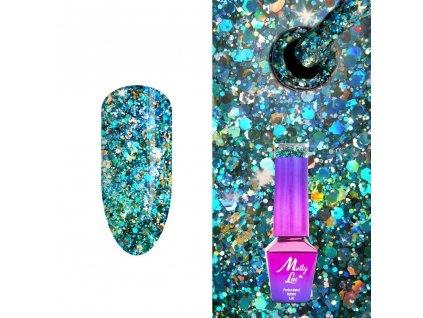 Lakier hybrydowy MollyLac Crushed Diamonds Glammy Chic 5 ml Nr 537 2