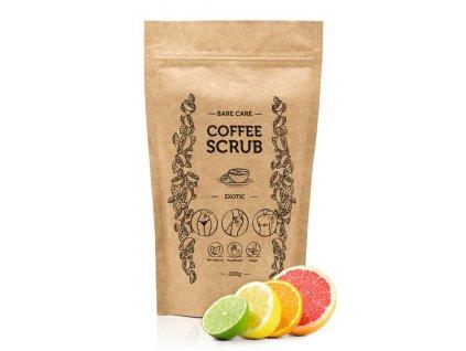 EXOTIC - Kávový peeling s vôňou exotic BARECARE 200g