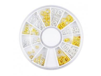 Luxusné zlato strieborné ozdoby v kazetke 1