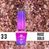 GEL LAK Molly Lac QUEENS OF LIFE ROSE GOLD 5ml Nr 33