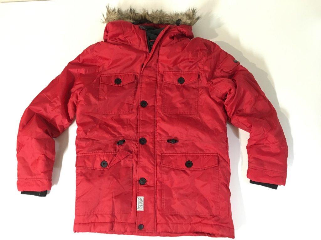 Pánská bunda parka Dstruct Červená