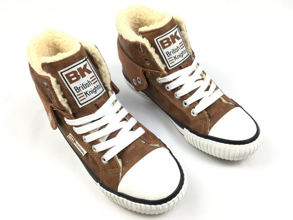 Dámské boty British Knights s kožíškem Koňakové