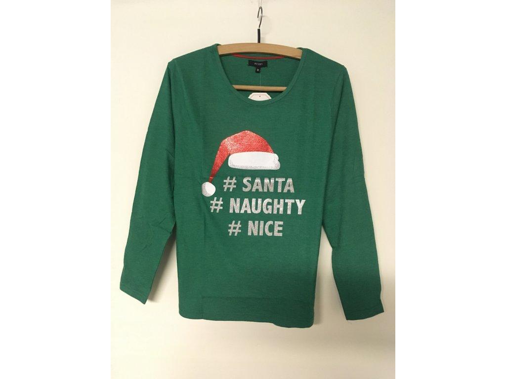 Dámský vánoční Top Mystify Nov Zelený