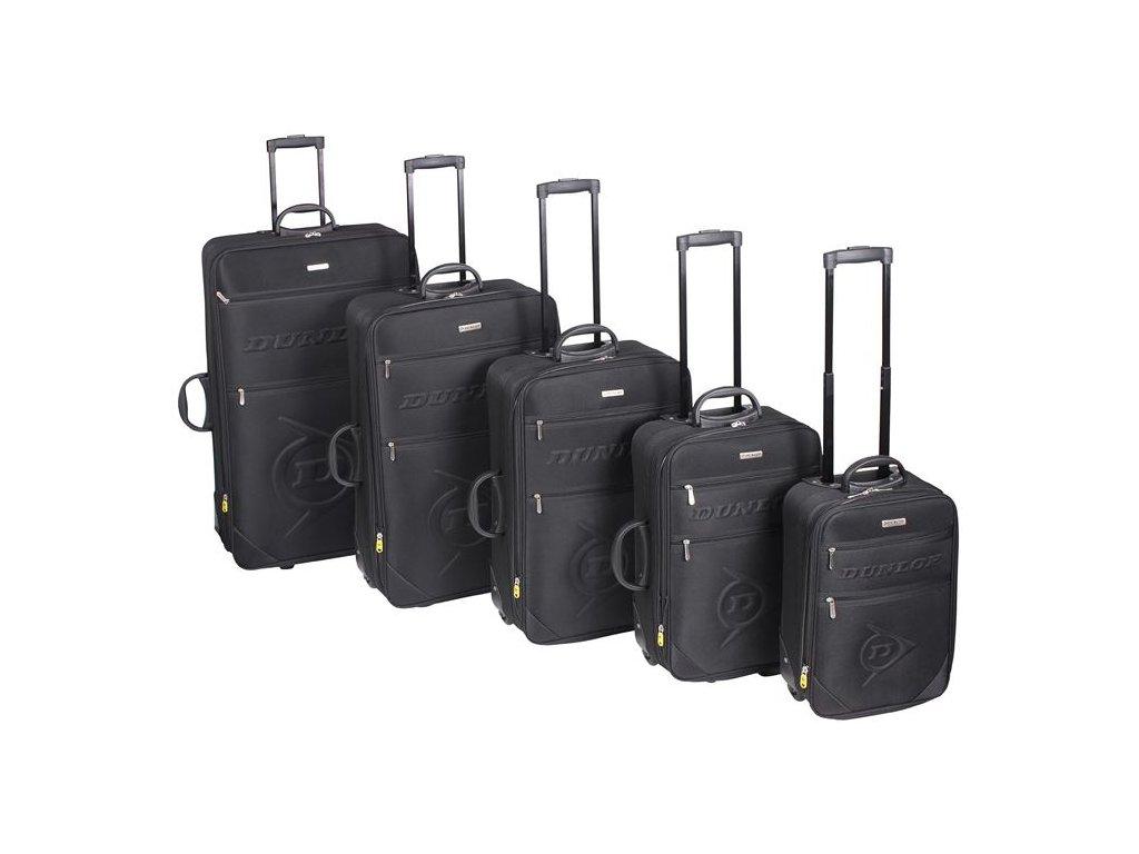 Robustní kufr Dunlop Černý sada 5 kusů