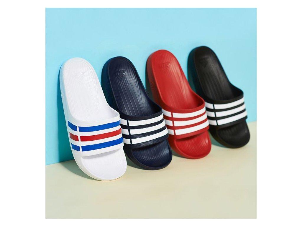 def1a9ac62e Pánské pantofle adidas Duramo Navy - Dreamstock.