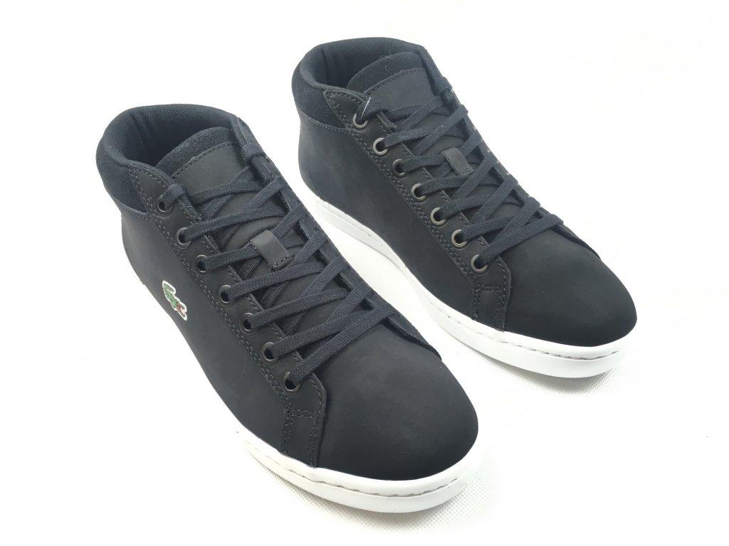 Pánské kožené boty Lacoste Chukka Černé