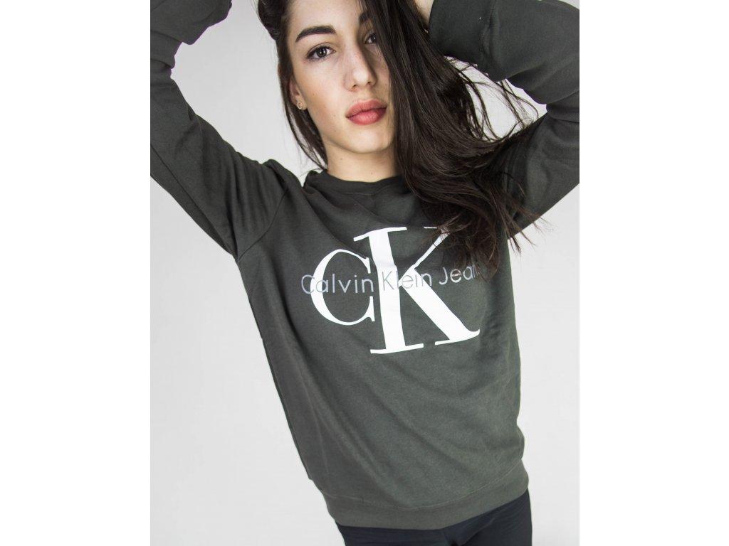 Mikina Calvin Klein Vintage Logo Unisex Černá