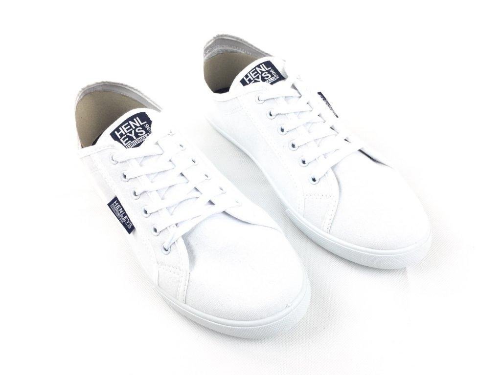Pánské boty Henleys Kenyon Canvas Bílé